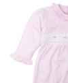 Hand Smocked Premier CLB Fall Medley Pink Footie
