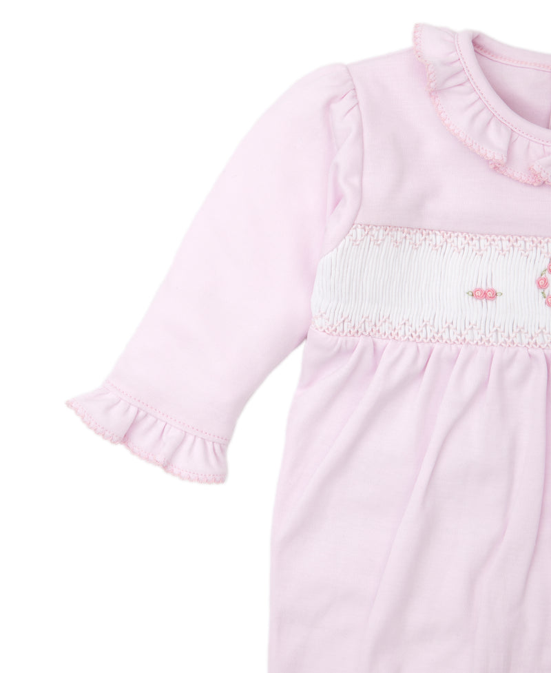 CLB Fall Heart Hand Smocked Footie
