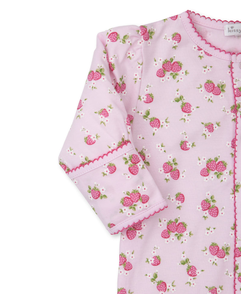 Strawberry Soiree Print Footie