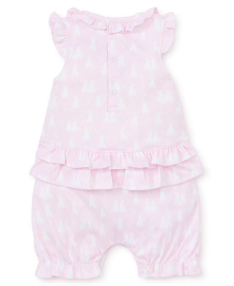 Cushy Cottontails Pink Short Playsuit