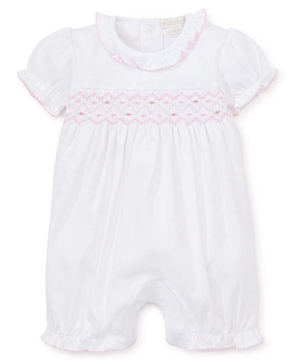 Hand Smocked Premier Pink CLB Summer Playsuit