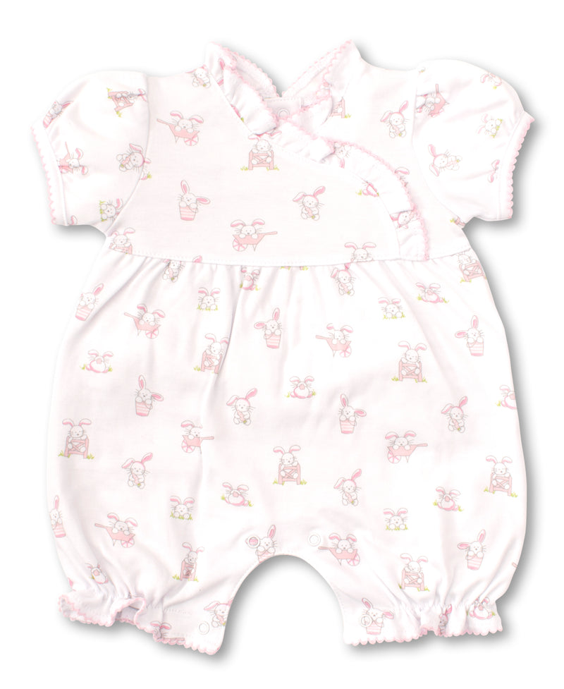 Bunny Buzz Pink Print Short Playsuit