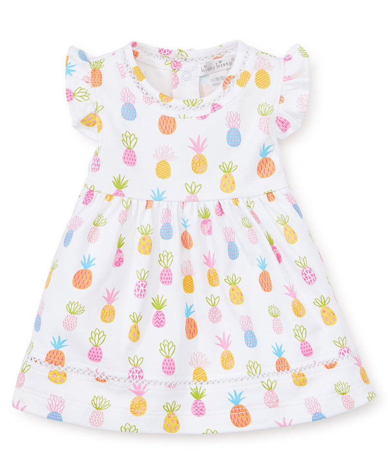 Pineapples Print Dress Set
