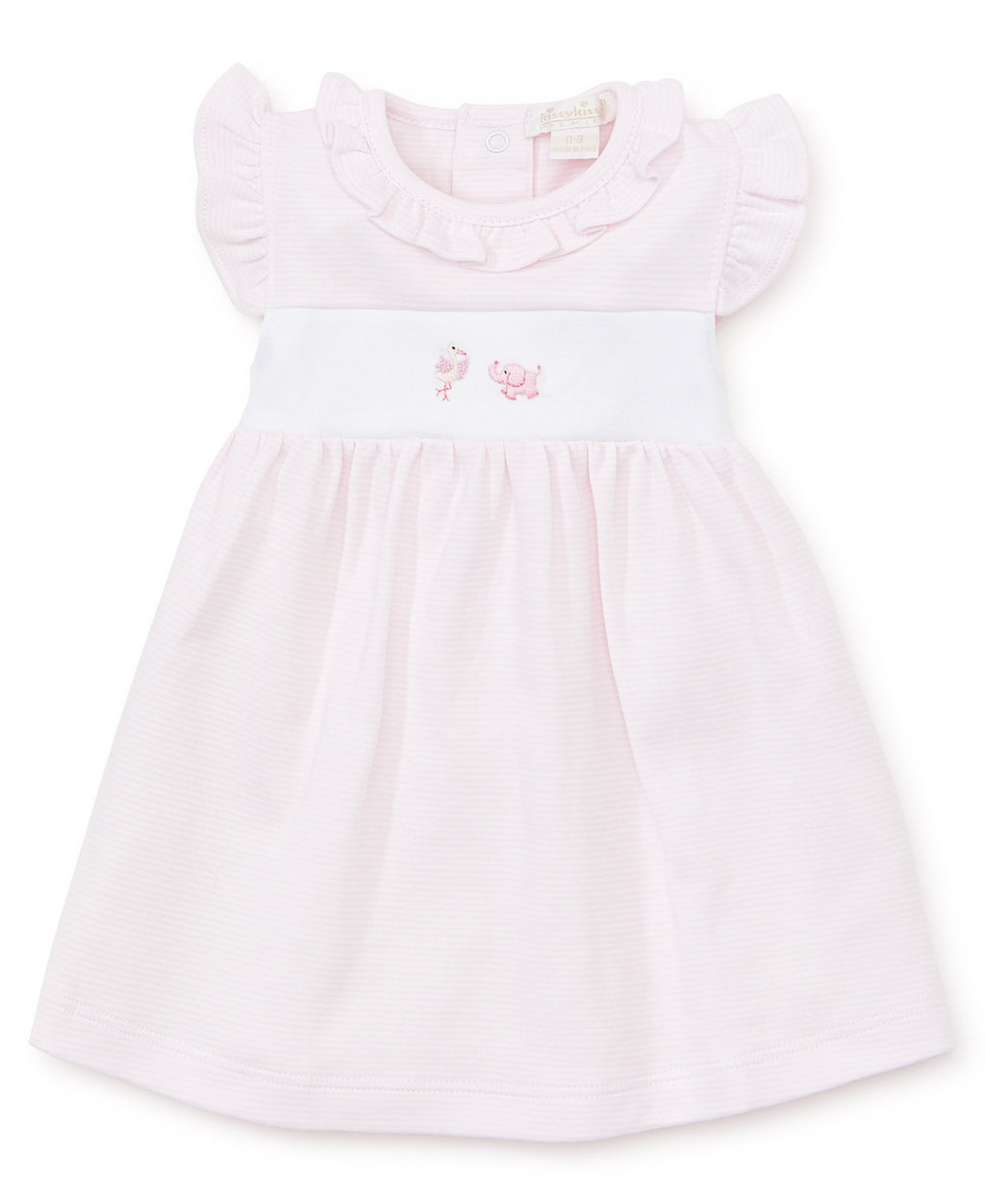 Hand Emb. Premier Animal Crackers Pink Dress Set