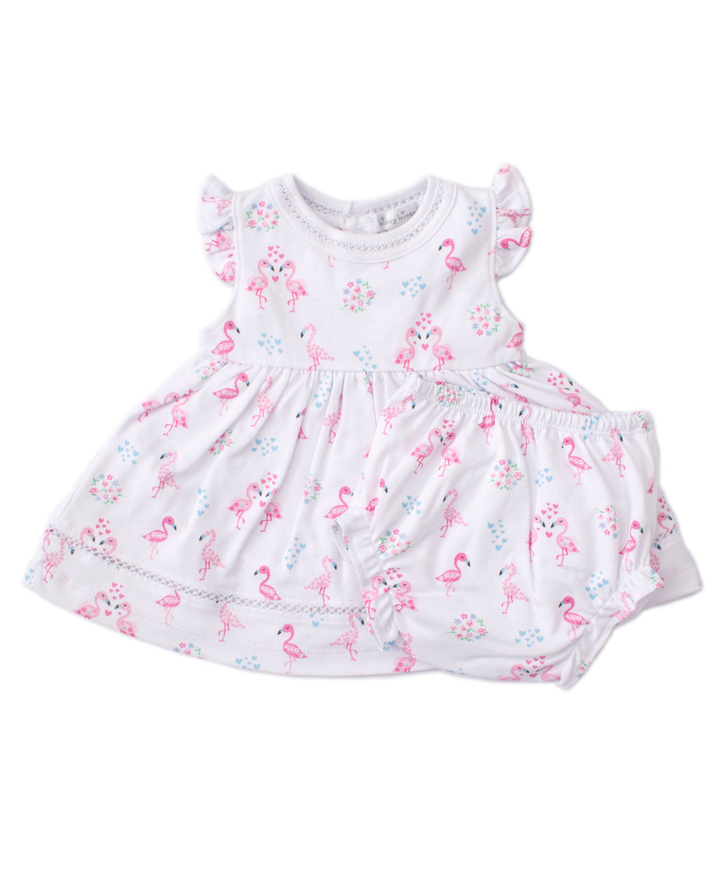 Flowering Flamingos Print Dress Set