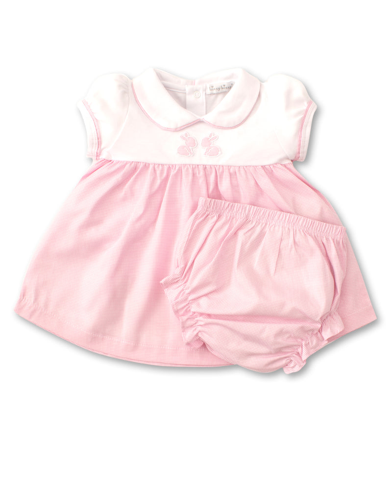 Pique Baby Bunnies Dress Set