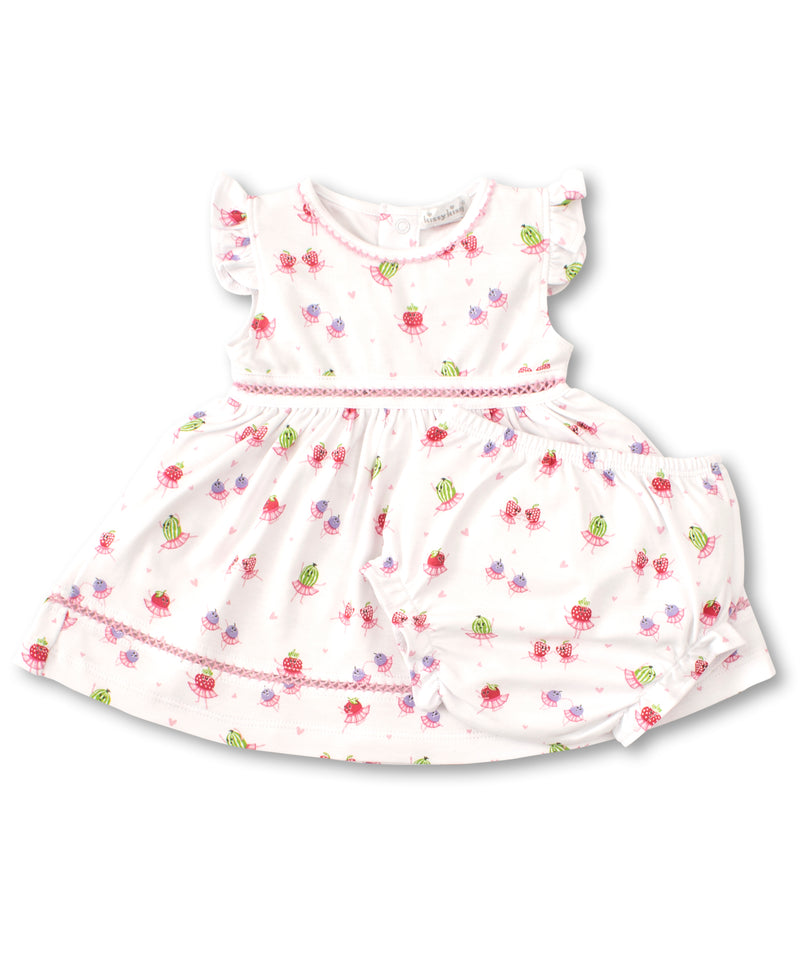 Berry Ballet Print Dress Set