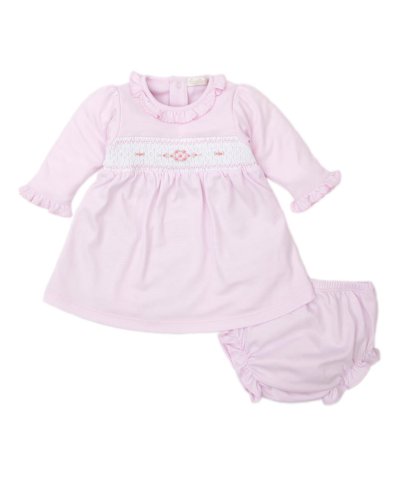 Hand Smocked CLB Fall Medley Pink Dress Set