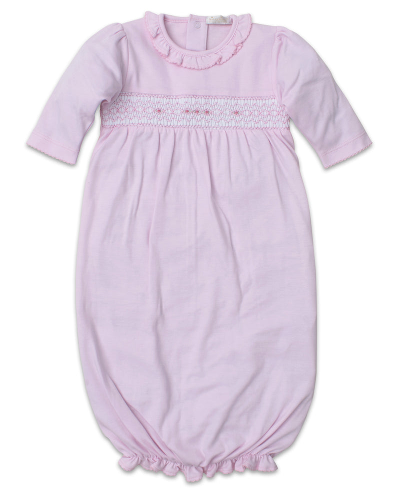 Hand Smocked Premier CLB Fall Pink Sack Gown