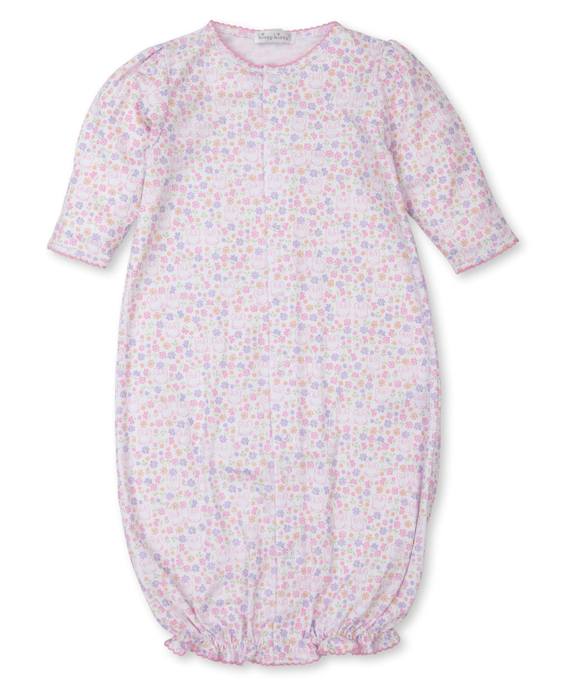 Backyard Bunnies Print Convertible Gown