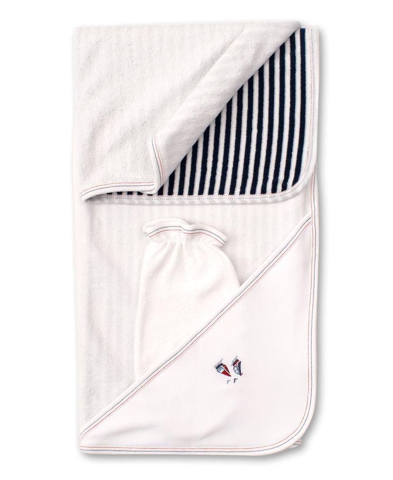 Seaside Surprise Hooded Towel & Mitt Set