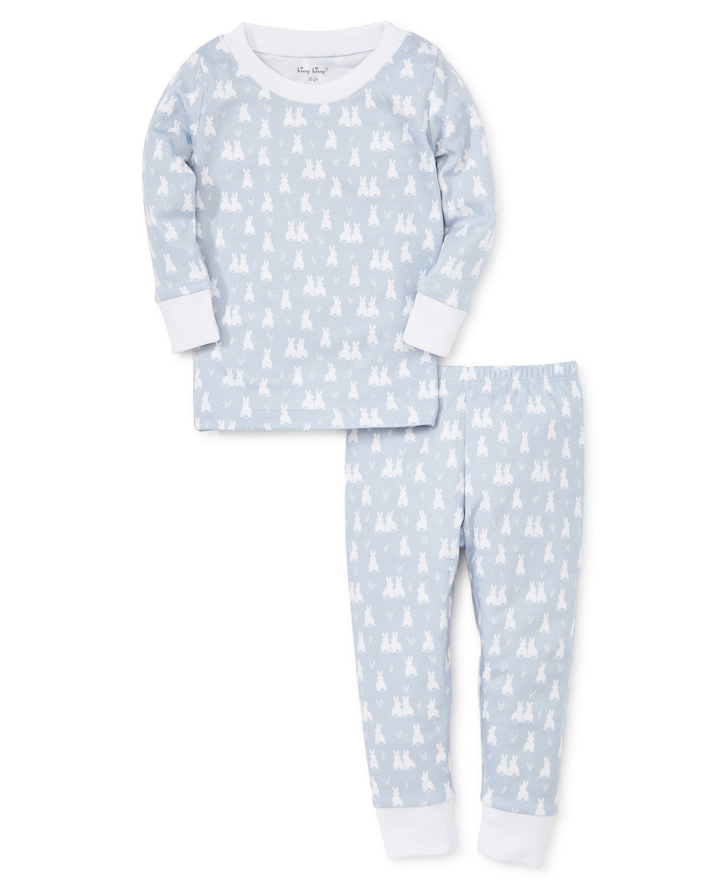 Cushy Cottontails Silver Pajama Set