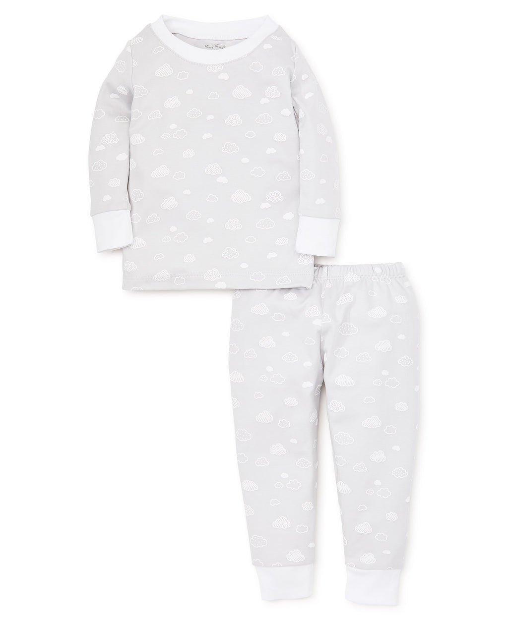 Cotton Clouds Silver Pajama Set