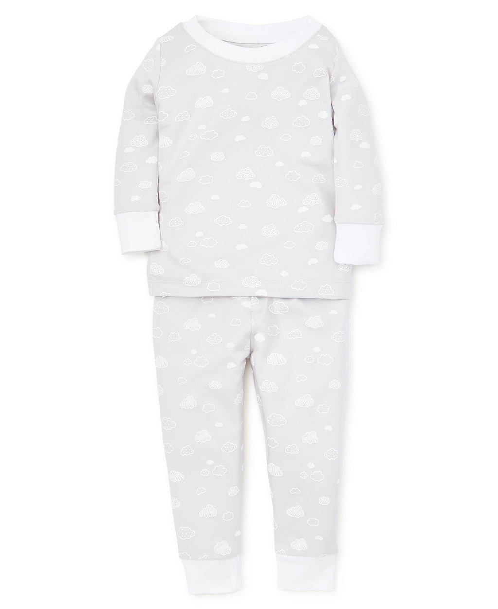 Cotton Clouds Silver Toddler Pajama Set