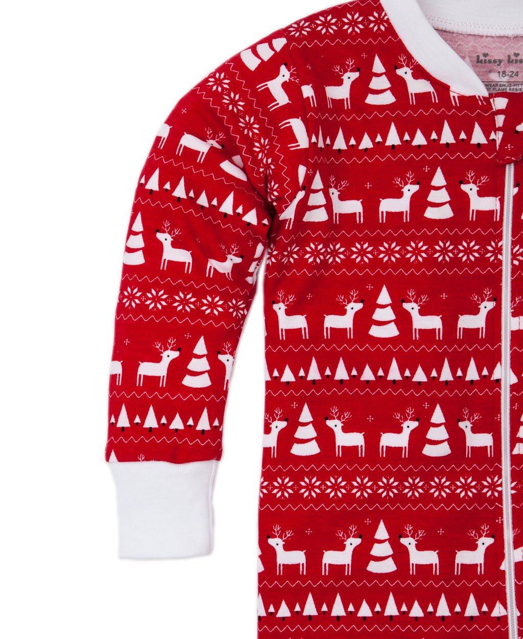 Christmas Deer Pajama Zip Coverall