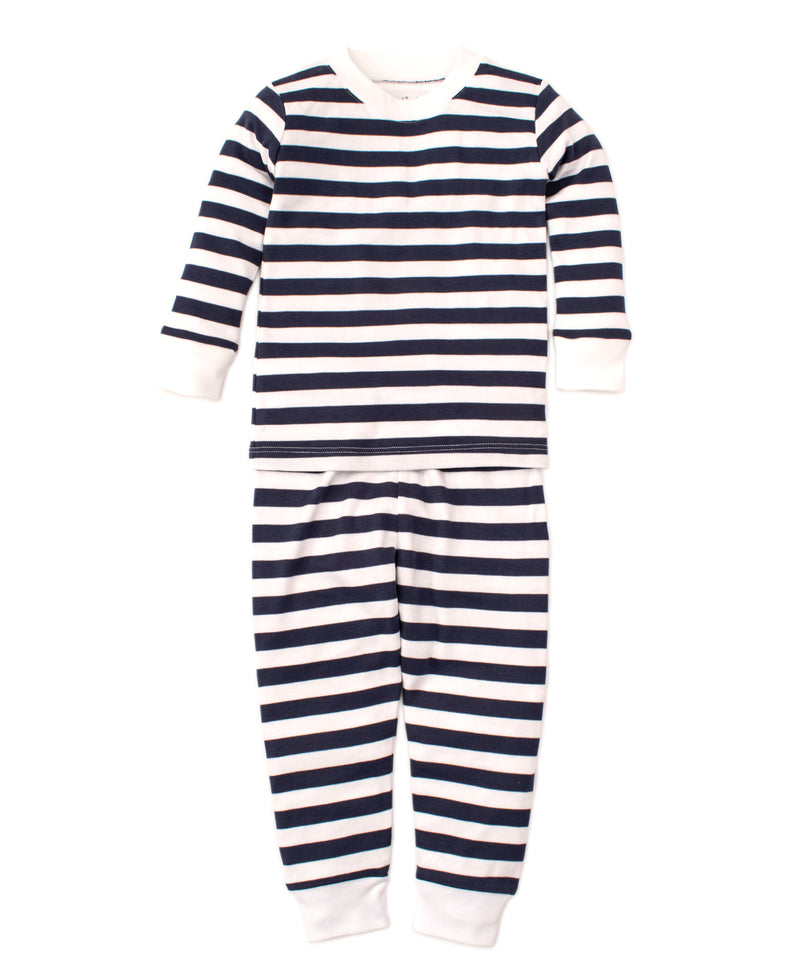 Navy Broad Stripes Pajama Set