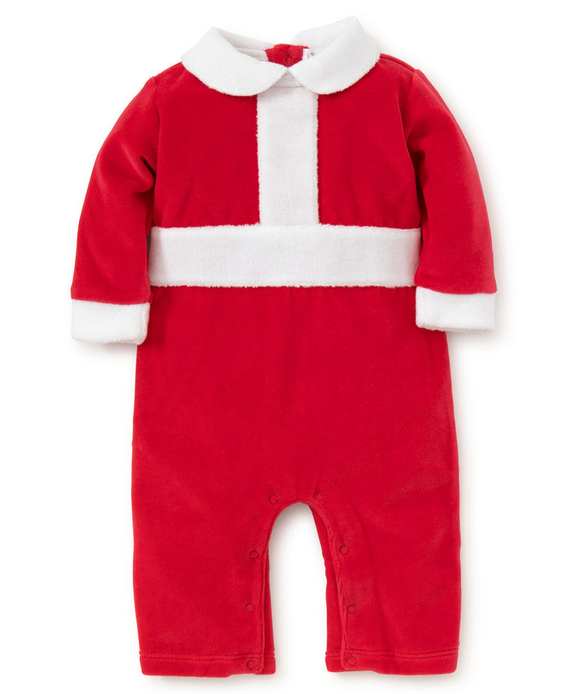 Here Comes Santa Claus Velour Playsuit