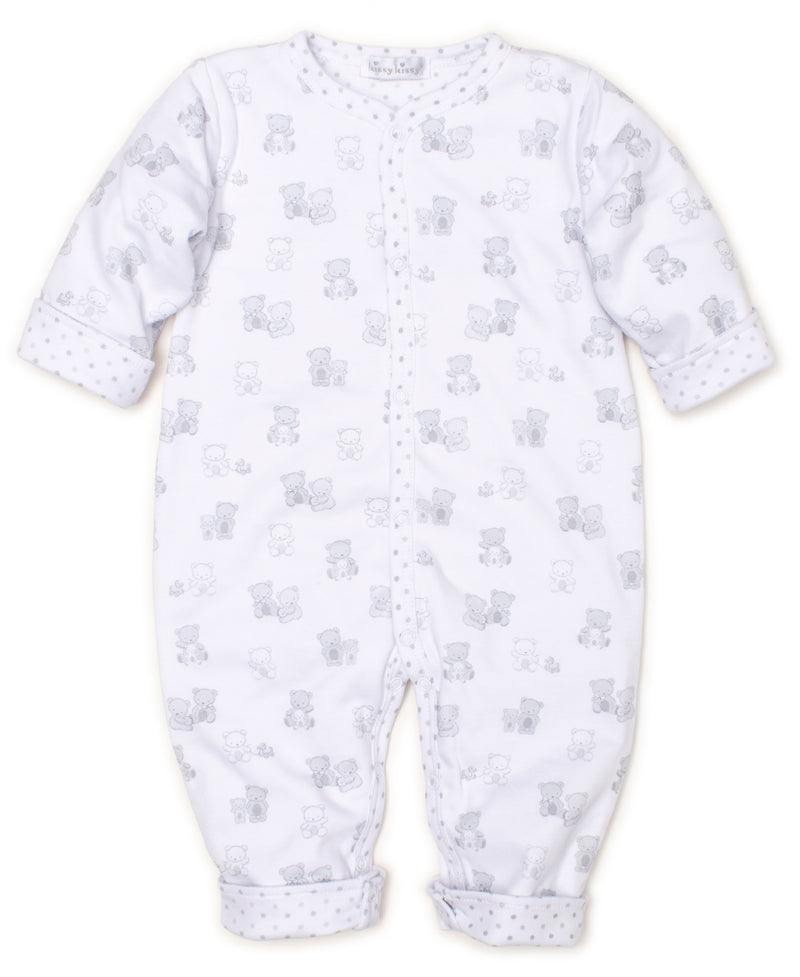 Bear-y Cute Silver Reversible Playsuit