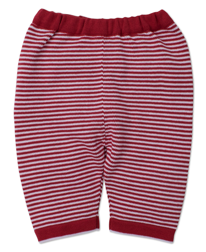 Red Reindeer Knits Striped Pant
