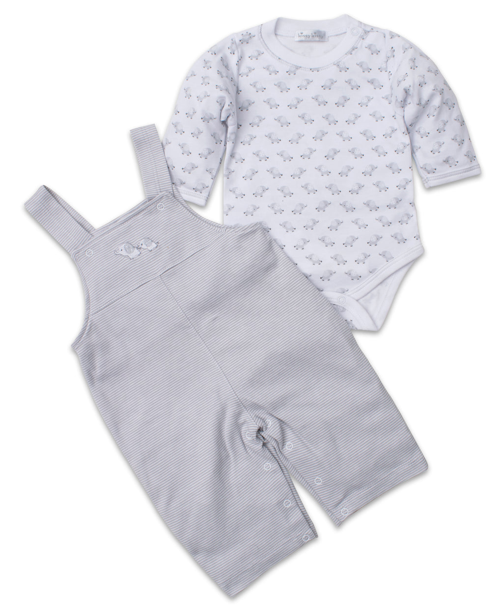 Baby Trunks Silver Overall Set