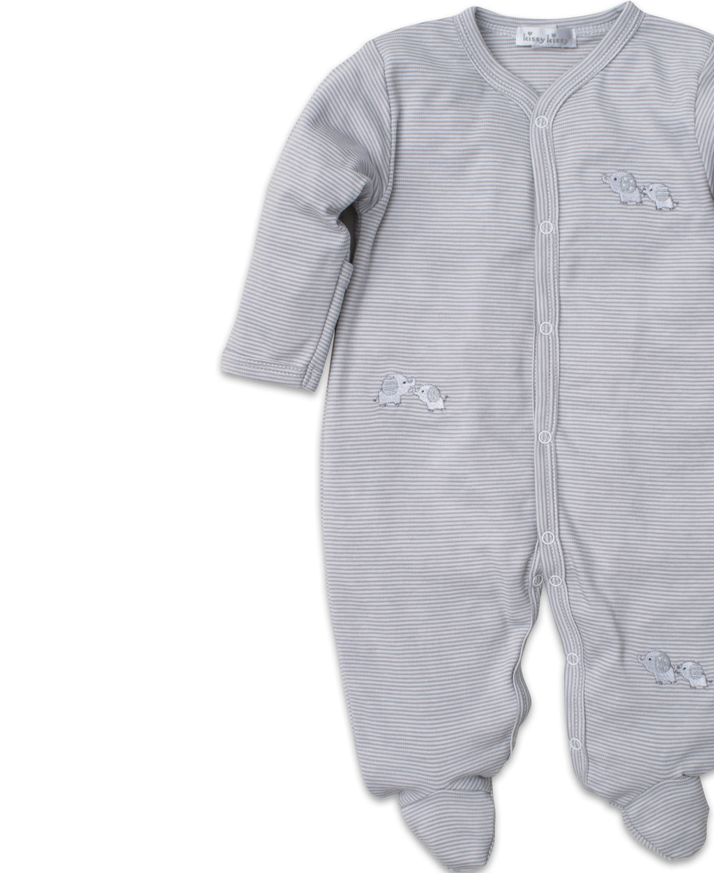 Baby Trunks Silver Stripe Footie