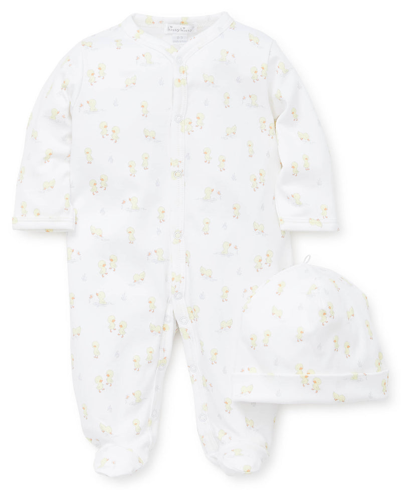 Darling Duckies Footie & Hat Set