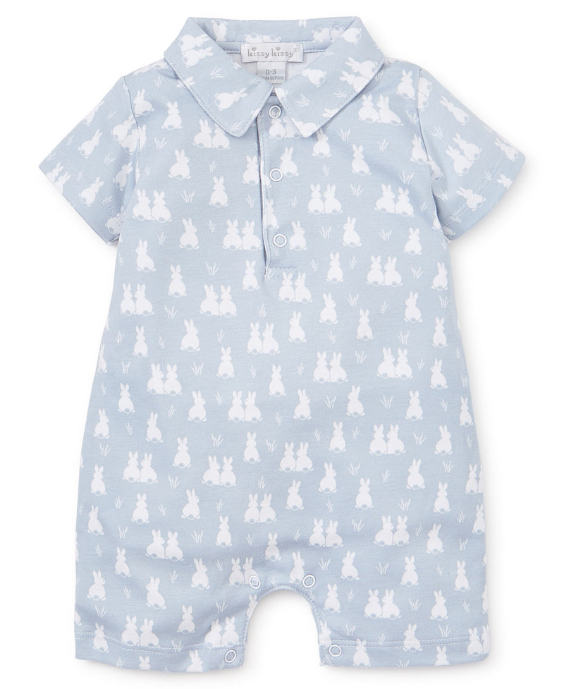 Cushy Cottontails Silver Short Playsuit