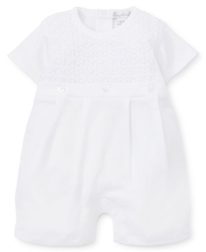 First Impressions White Short Playsuit