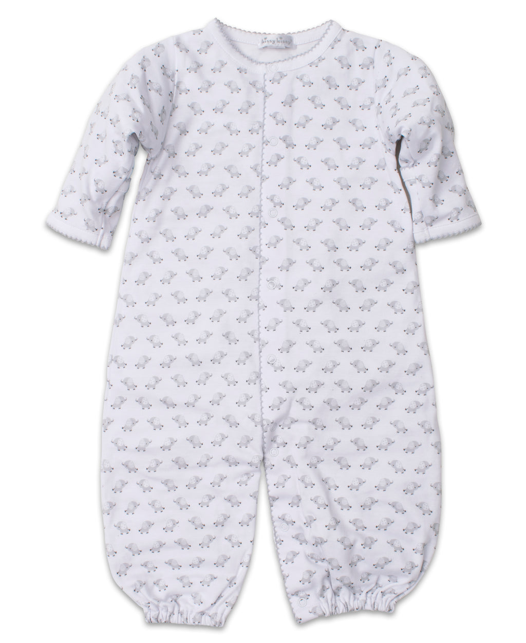Baby Trunks Silver Print Convertible Gown