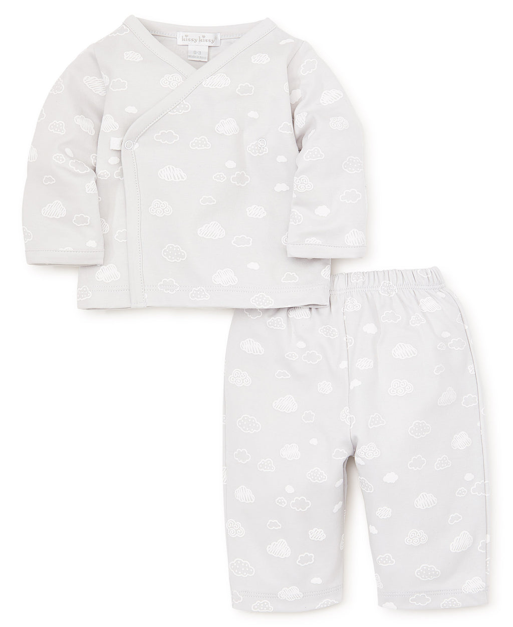 Cotton Clouds Silver Pant Set