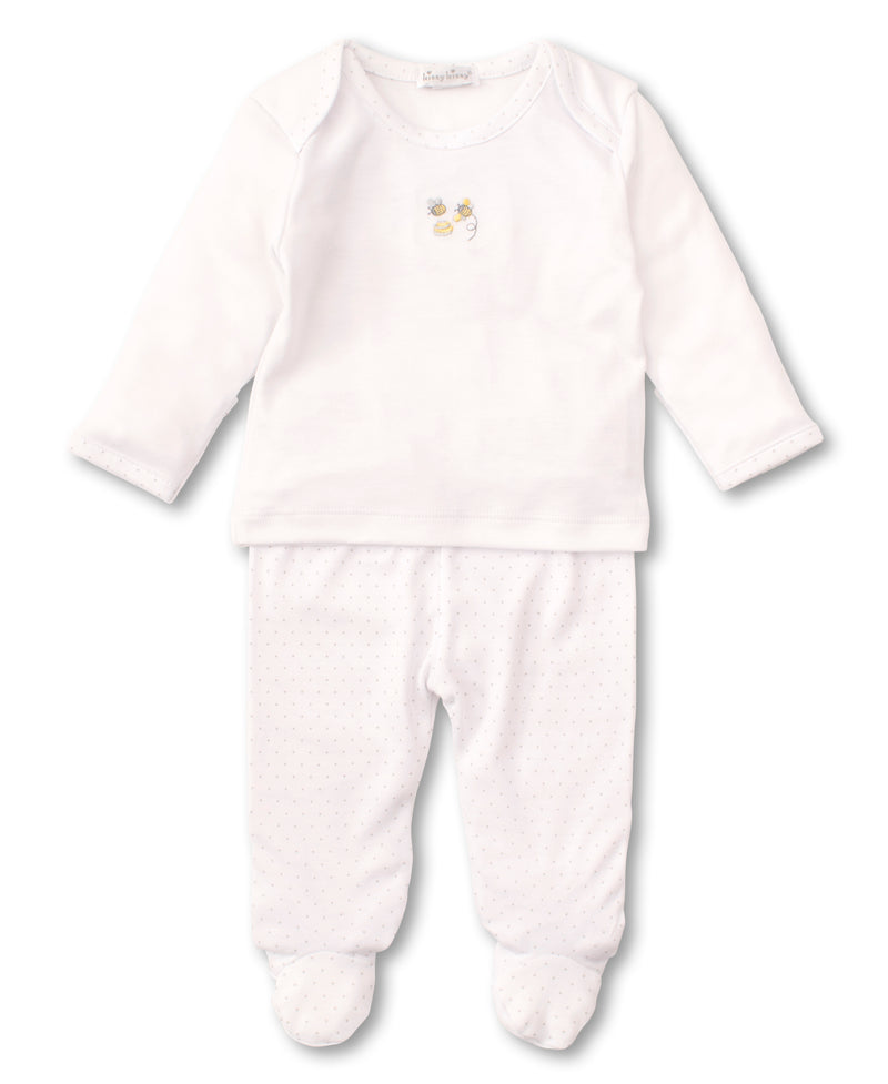 Buzzing Bees Footed Pant Set