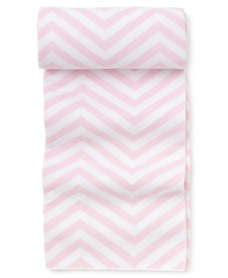 Pink Chevron Knit Novelty Blanket
