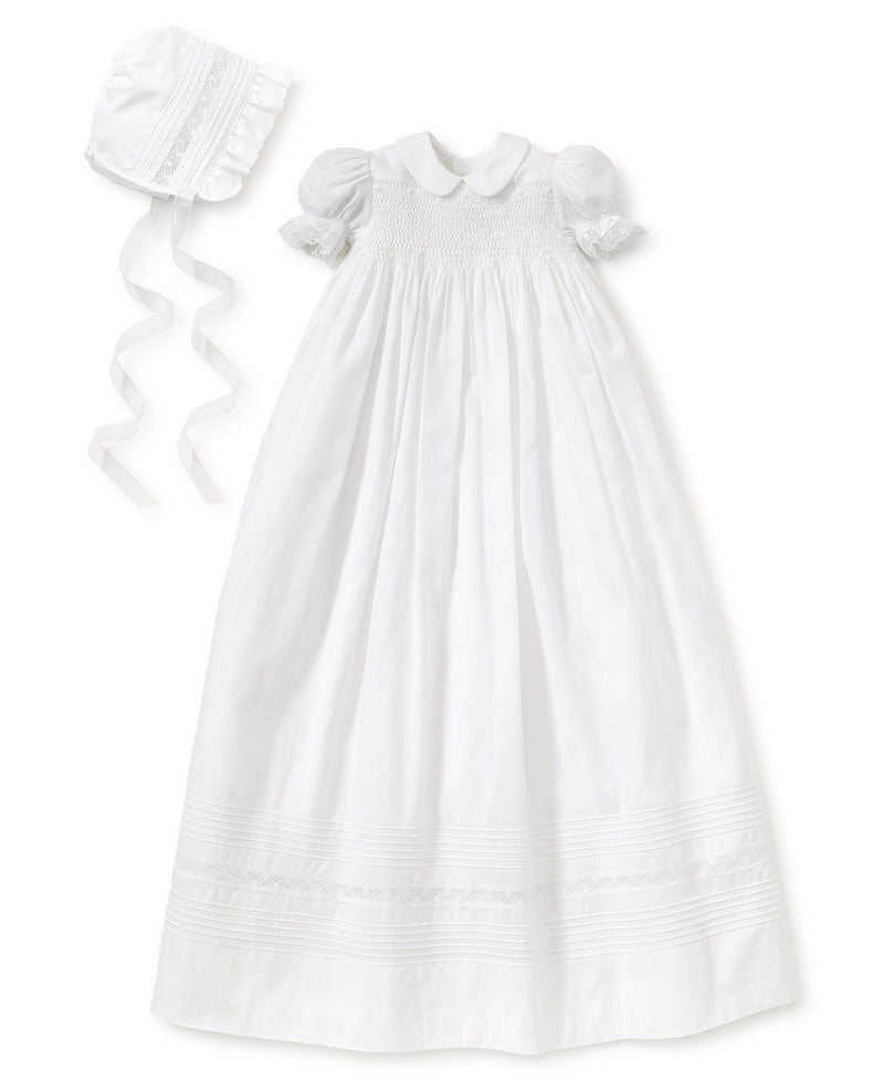 Silene Christening Gown & Hat Set