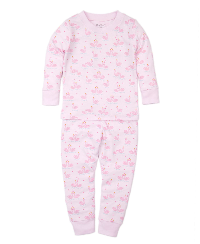 Glitter Swans Toddler Pajama Set