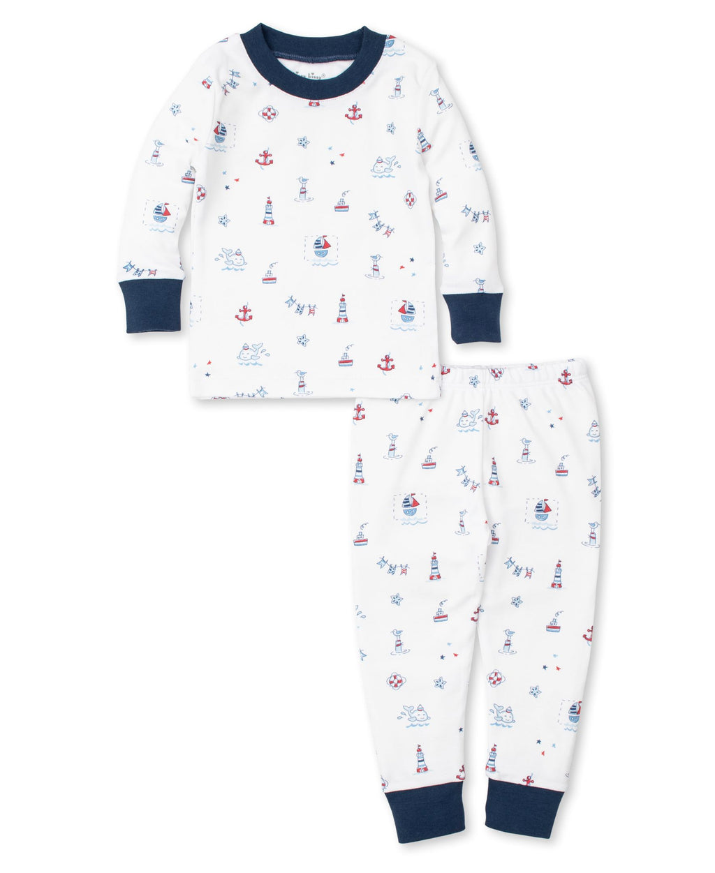 Nautical Blues Pajama Set