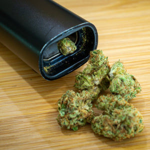 Vaporizer with dried marijuana