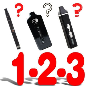 1, 2, 3, With Three Various Dark Side Vapes and Question Marks