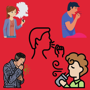 Graphics of People Coughing