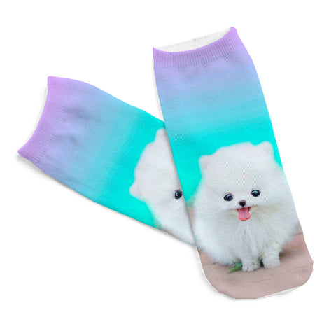White Fluffers Sock