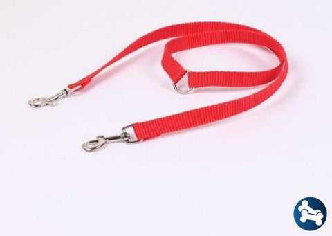 Adjustable Reflective Double Dog Leash
