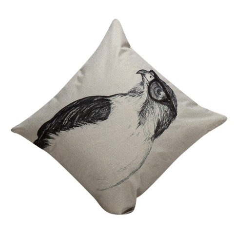 Bird Eye Vintage Throw Pillow 18x18inch