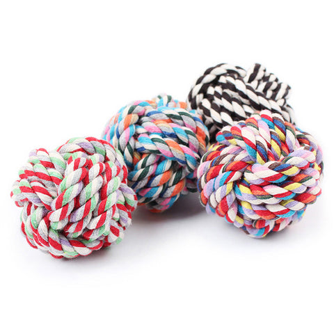 Colorful Cotton Braided Dog Toy
