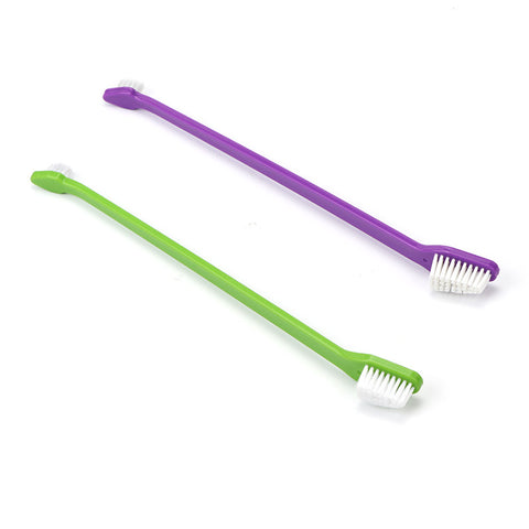 Double Headed Toothbrush For Pet Dogs And Cats