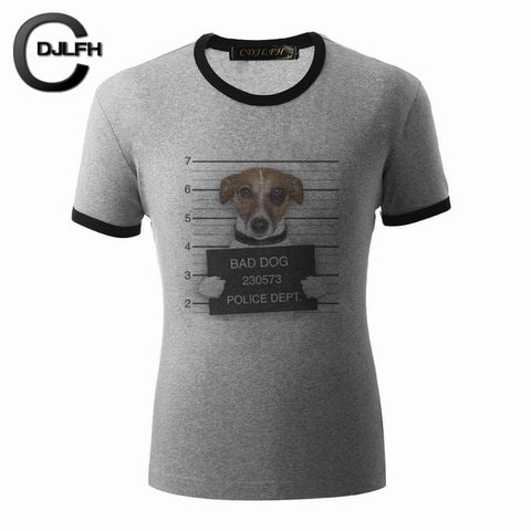 Cute Dog Print Tees