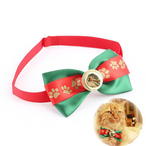 FabyCat Christmas Bow Tie Cat Collar