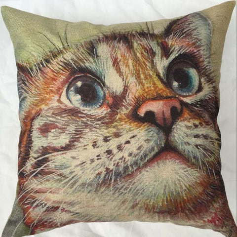 Cat Eyes Vintage Throw Pillow 18x18inch