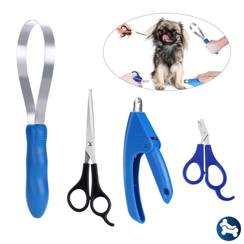 4 Piece Easypaws Pet Grooming Kit