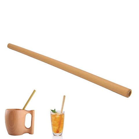 New Organic Bamboo drinking straw For Party Birthday Wedding Biodegradable Wood Straws Tableware Wholesale 1Pcs