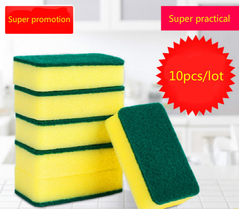 10 Pcs high-density sponge  kitchen clean sponge  rub magic bath  Clean Wipe Wash Dishes Sponge Cleaner Household Cleaning Tools