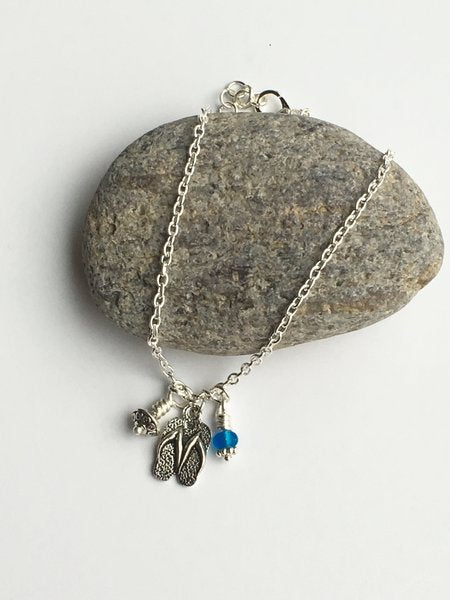 Sterling Silver charm anklet